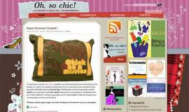 Σχεδιασμός και Κατασκευή Blog – Oh, So Chic!