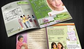 Κατασκευή ιστοσελίδων - Κέντρο Ξένων Γλωσσών Ελένης Παπαναστασίου Brand Design - Leaflets