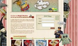 Κατασκευή ιστοσελίδων - Magic Stories - Website 3