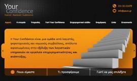 Κατασκευή ιστοσελίδων - Your Confidence - Website 1