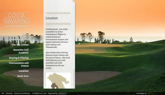 Costa Navarino Golf Experience — Website 3