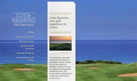 Σχεδιασμός και Κατασκευή Ιστοσελίδας – Costa Navarino Golf