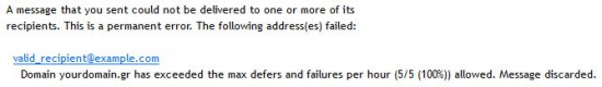 Αποτυχία λόγω πολλών προηγούμενων αποτυχιών