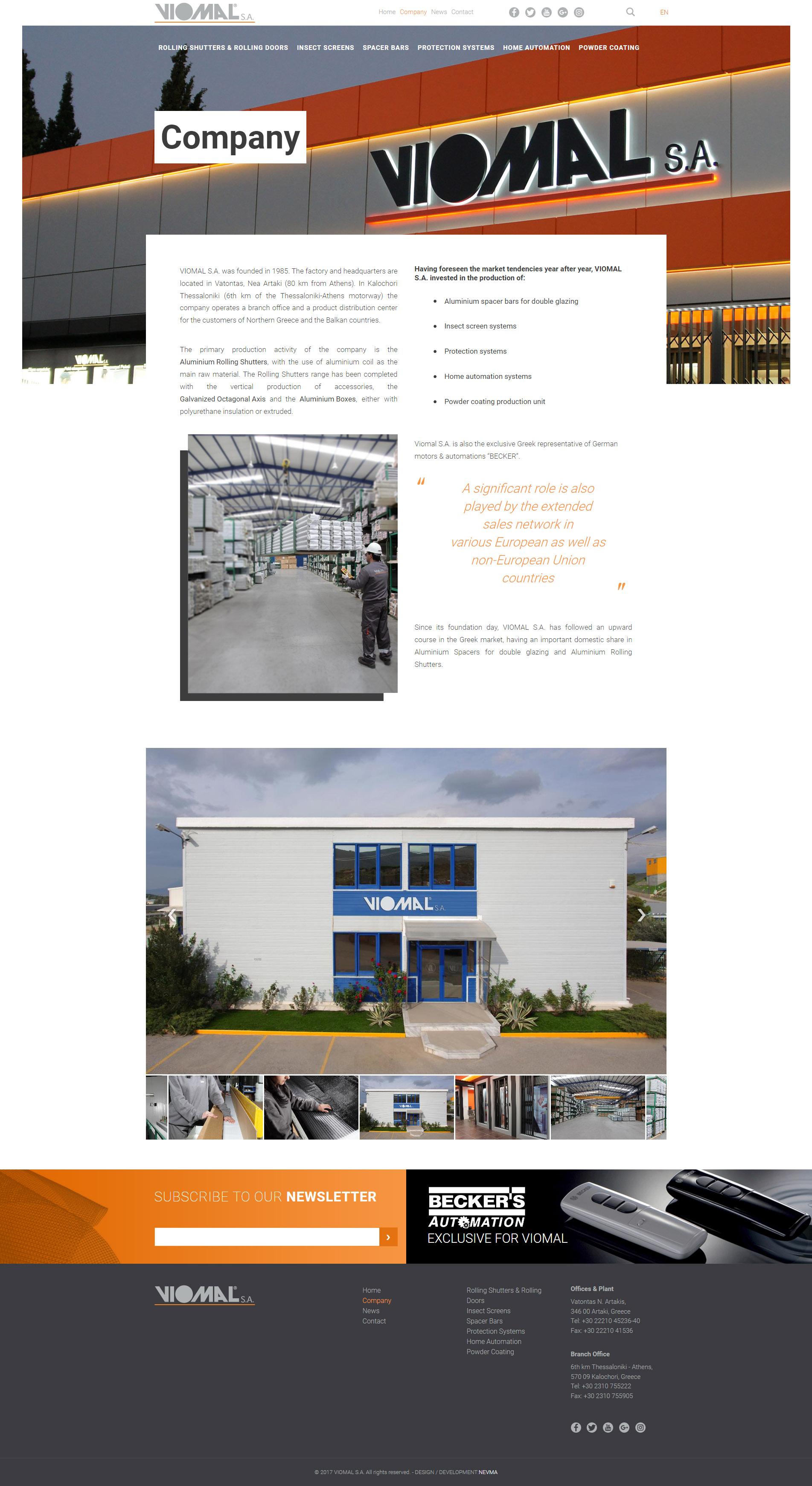 Σχεδιασμός και Κατασκευή Ιστοσελίδας – Viomal.gr - Nevma - Creative ... dd38fbfaf10